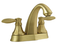 Meridian 2054030 - Centerset Lavatory Faucet Lever Handles (Solid Brass Construction) - Brushed Brass