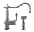 Meridian 2279400 - Kitchen Faucet with Spray (Solid Brass Construction) - Brushed Nickel