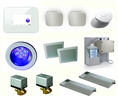 Mr. Steam IDREAM2-WHITE - Pkg. Includes IBUTLER2 PACKAGE, ISPA PACKAGE SQUARE SPEAKERS. FOR MS SUPER 4E, 5E, 6E.