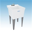 Mustee 19CFT - UTILATUB® Combo Pack Laundry/Utility Tub with Faucet, Cover, S-Lines and P-Trap