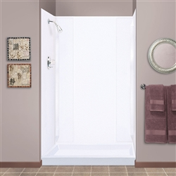 Mustee 265wht Durawall Shower Wall White Fits Up To 40x69