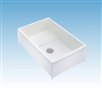 Mustee 65M Mop Service Sink, 36-inch x 24-inch x 10-inch. Mustee Mop service basins are one-piece molded from high impact resistant DURASTONE® structural fiberglass.