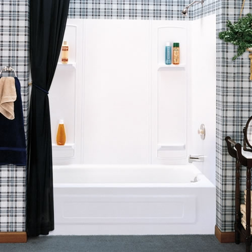 Mustee 950 Durawall Bathtub Wall White