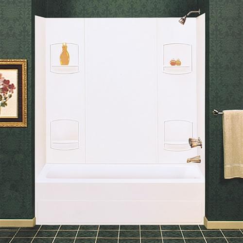 Durawall Tub Wall: Mustee 952WHT Durawall Bathtub Wall White