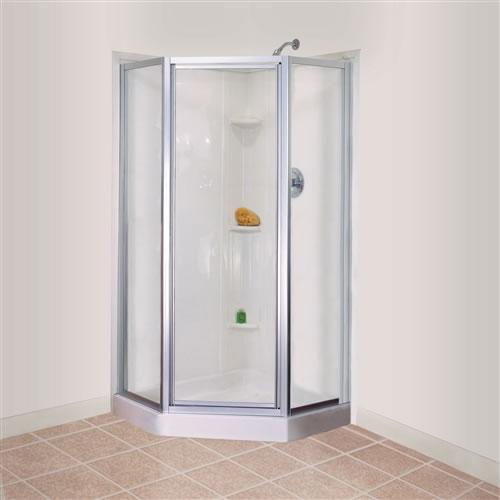 Mustee durabase neo angle corner threshold fiberglass - Bathroom items that start with l ...