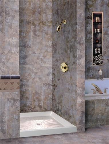 Mustee Durabase 174 Fiberglass Square Shower Floor