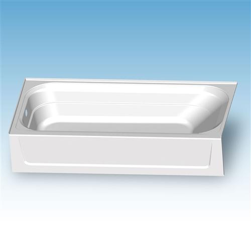 mustee t6030l topaz fiberglass bathtub