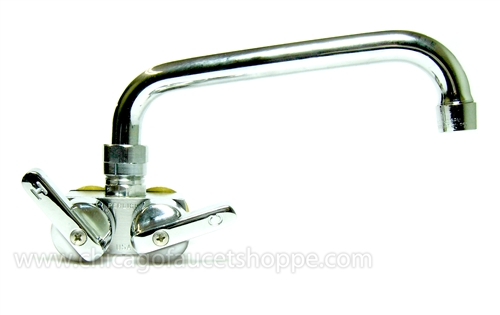 Perlick 824x Spt 1 3 4 Inch Center Wall Mount Commercial Faucet With Swing Spout