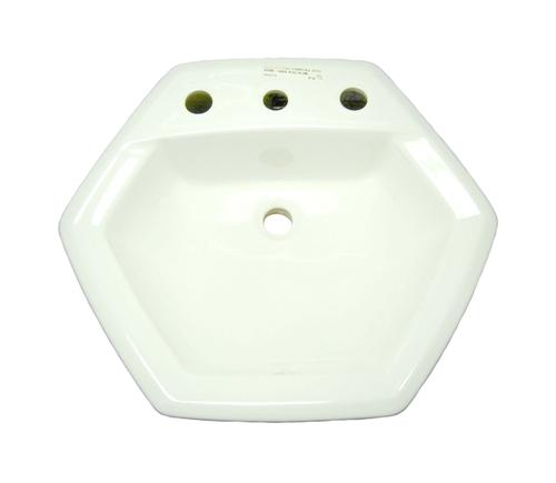 American Standard Bathroom Faucets >> American Standard 0485.013.020 - Hexalyn Top Mount Sink, White