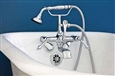 Strom Plumbing P1014 - British Telephone Clawfoot Leg Tub Faucet with Metal Handheld Shower