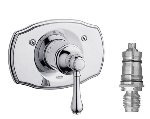 Grohe 19 616 000 1 2 Thermostatic Shower Trim Complete With Cartridge