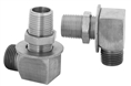 T&S Brass - Inlet Kit, Wall Mount, 1/2-inch NPT Male x Female Short EL