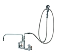 T&S Brass - B-0289 - Big-Flo Spray Assembly, Wall Mount, 8-inch Centers, 18-inch Add-On Faucet - Angled Spray Valve