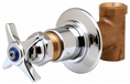 T&S Brass - B-1025 - Concealed Straight Valve, 1/2-inch NPT Female Inlet and Outlet, 4-Arm Handle, Cold Index