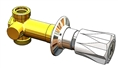 T&S Brass - B-1026-1 - Concealed Straight Valve, 1/2-inch NPT Female Inlet and Outlet, Alpine Handle, Hot Index