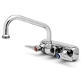 T&S Brass - B-1116 - Workboard Faucet, Wall Mount, 4-inch Centers, 8-inch Swing Nozzle, Lever Handles