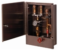 T&S Brass - B-2339-LR - Hose Reel Control Cabinet with Control Valve, Temperature Gauge and Dual Check Valves