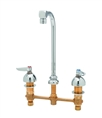 T&S Brass - B-2386 - Medical Faucet, Deck Mount, Concealed Body, 8-inch Centers, Swivel Gooseneck, Aerator Outlet