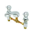 T&S Brass - B-2991-PA - Pivot Action Metering Faucet -  Deck Mount, 8-inch Centers, Cast Spout w/ 2.2 GPM Aerator