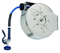 T&S Brass - B-7122-C01 - Hose Reel, Enclosed, Stainless Steel, 30'Hose, 3/8-inch ID with Spray Valve