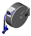 T&S Brass - B-7142-C02 - Hose Reel, Enclosed, Stainless Steel, 50'Hose, 3/8-inch ID with Rear Trigger Water Gun