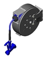 T&S Brass - B-7222-C05 - Hose Reel, Enclosed, Epoxy Coated Steel, 30'Hose, 3/8-inch ID with Front Trigger Water Gun