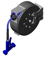 "T&S Brass B-7222-C11 - Hose Reel, Enclosed, Epoxy Coated Steel, 3/8""X30', Mv-3516-24 Aluminum Water Gun"