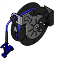 T&S Brass - B-7242-05 - Hose Reel, Open, Epoxy Coated Steel, 50'Hose, 3/8-inch ID with Front Trigger Water Gun