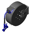 T&S Brass - B-7242-C02 - Hose Reel, Enclosed, Epoxy Coated Steel, 50'Hose, 3/8-inch ID with Rear Trigger Water Gun