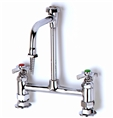 T&S Brass - BL-5715-08 - Lab Mixing Faucet, Deck Mounted, Rigid Vacuum Breaker Nozzle, Serrated Tip, 4-Arm Handles