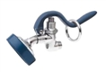 T&S Brass - EB-0107-035 - BLUE SPRAY VALVE UNIT w/ ANGLE SPRAY FACE & RUBBER BUMPER