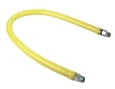 T&S Brass - HG-2C-24S - Gas Hose, Free Spin Fittings, 1/2-inch NPT, 24-inch Long, Includes SwiveLink Fittings