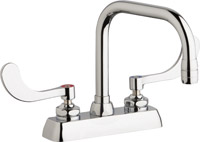 "Chicago Faucets W4D-DB6AE35-317ABCP - 4"" Deck Mount Washboard Sink Faucet"