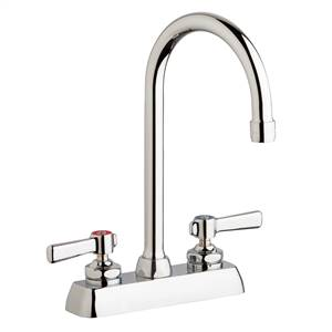 "Chicago Faucets W4D-GN2AE35-369AB - 4"" Deck Mount Washboard Sink Faucet"