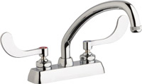"Chicago Faucets W4D-L9E1-317ABCP - 4"" Deck Mount Washboard Sink Faucet"