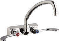 "Chicago Faucets W4W-L9E35-317ABCP - 4"" Wall Mount Washboard Sink Faucet"