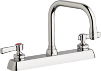 "Chicago Faucets W8D-DB6AE35-369ABCP - 8"" Deck Mount Washboard Sink Faucet"