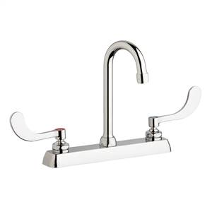 "Chicago Faucets W8D-GN1AE35-317AB - 8"" Deck Mount Washboard Sink Faucet"