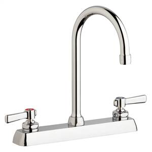 "Chicago Faucets W8D-GN2AE35-369AB - 8"" Deck Mount Washboard Sink Faucet"