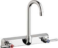 "Chicago Faucets W8W-GN1AE35-369ABCP - 8"" Wall Mount Washboard Sink Faucet"
