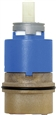 Wolvering Brass 85117 - One Piece 35mm Reverse Flow Ceramic Disc Cartridge & Balancing Spool Assembly
