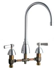 Chicago Faucets - 201-AGN10AE3SWGCP - Kitchen Sink Faucet without Spray