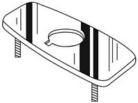 Chicago Faucets - 240.757.21.1 - COVER Plate IR/Metering FCT 8-inch