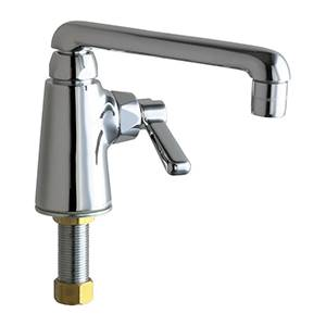 Chicago Faucets - 349-ABCP - Single Hole Deck Mounted Pantry/Bar Faucet with 6-inch Cast Swing Spout