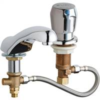 Chicago Faucets 404-HZCW665ABCP - Adjustable Widespread Concealed Deck Mount Lavatory Cold Water Metering Sink Faucet