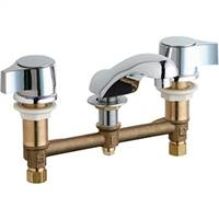 Chicago Faucets - 404-V636ABCP - Widespread Lavatory Faucet