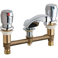 Chicago Faucets - 404-V665ABCP - Widespread Lavatory Faucet