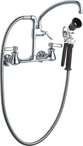 Chicago Faucets Pot Filler Pre Rinse Ing With 613 A Adapta Faucet 509 Gxkcab