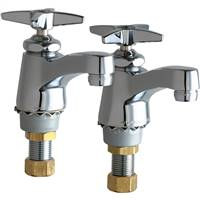 Chicago Faucets 700-PRABCP - Pair of Individual, Separate Mounted Single Lavatory Faucets