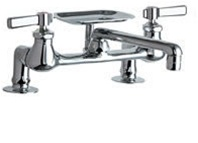 chicago faucets 728 cp 8 deck counter mounted kitchen faucets rh chicagofaucetshoppe com chicago kitchen faucet aerator chicago faucet kitchen sink